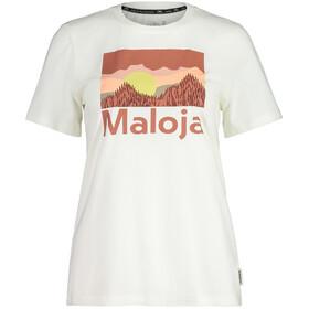 Maloja LeinblattM. SS T-Shirt Women, vintage white